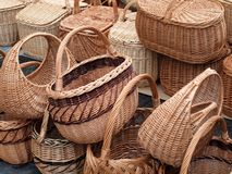 The basket collection Stock Image