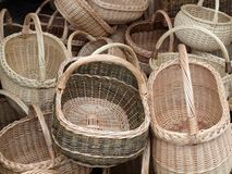 The basket collection Royalty Free Stock Image