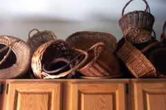 Basket collection Stock Photography