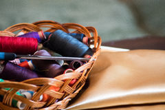 Basket with colored Stock Images