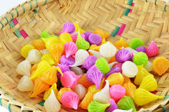 Basket Colorful candy Royalty Free Stock Photo