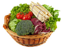 Basket with colorful vegetables Stock Photos