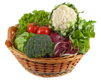 Basket with colorful vegetables Royalty Free Stock Photo