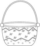 Basket coloring page Royalty Free Stock Photo