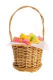 Basket with colour sugar Royalty Free Stock Photography