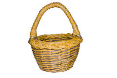 Basket from construction paper. The basket is woven from paper on white background Royalty Free Stock Images