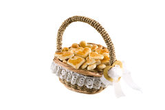 Basket of cookies. On a white background, isolated Stock Image