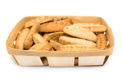 Basket with cookies Royalty Free Stock Photos