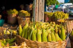 Basket Corn Shipment Stock Photo
