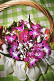 Basket of Corsages Royalty Free Stock Photo