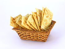 Basket of Crackers Royalty Free Stock Photography