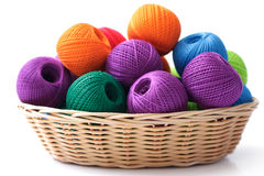 Basket crafts and sewing Royalty Free Stock Photo