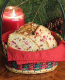 Basket of Cranberry Bread Stock Photography