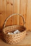Basket of crushed egg shell Royalty Free Stock Photo