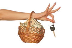 Basket of currencies Royalty Free Stock Photo