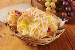 Basket of danish pastries Stock Image