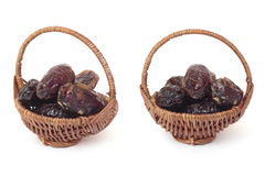 Basket of dates Royalty Free Stock Photography