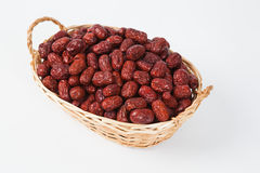 A basket of dates Stock Photography