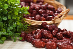 A basket of dates Royalty Free Stock Images