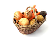 Basket of different vegetables Stock Images