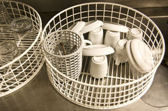 Basket of a dishwasher Stock Photography