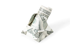 Basket with dollars Stock Images