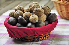 Basket of dried fruit Royalty Free Stock Photos
