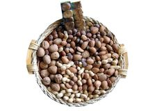 Basket of dried fruits Stock Photography