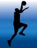 basket dunk Royaltyfria Bilder