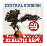 Basket eagle Royalty Free Stock Images