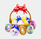 Basket with Easter egg. 3d basket with Easter egg Royalty Free Stock Photography