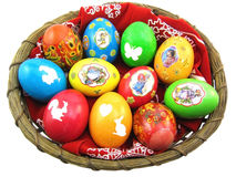 Basket of Easter Eggs Stock Photo