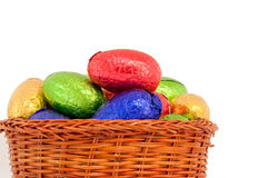 Basket easter eggs Stock Image