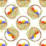 basket easter eggs Στοκ Εικόνα