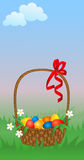 Basket with Easter eggs. Stock Photo
