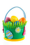Basket easter eggs Royalty Free Stock Photo