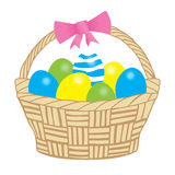 Basket easter Stock Photography