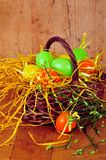 Basket Easter Spring egg Royalty Free Stock Photos
