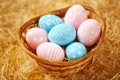 Basket with Easter symbols Stock Image