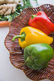 Basket of ecologically pure vegetables Stock Photo