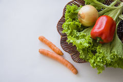 Basket of ecologically pure vegetables Royalty Free Stock Image