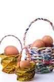 Basket and egg Stock Photography