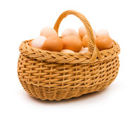 Basket of eggs royalty free stock photo