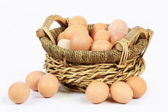 Basket of eggs Royalty Free Stock Images