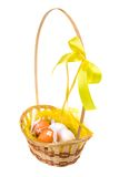 Basket with eggs Royalty Free Stock Image