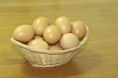 The basket of eggs Royalty Free Stock Image