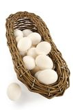 Basket with eggs Royalty Free Stock Photography