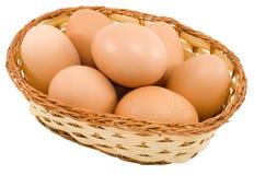 Basket of Eggs Stock Photos