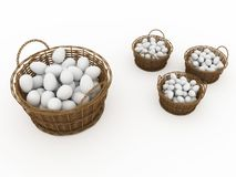 Basket with eggs Royalty Free Stock Photos