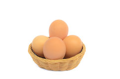 Basket of eggs Royalty Free Stock Photos